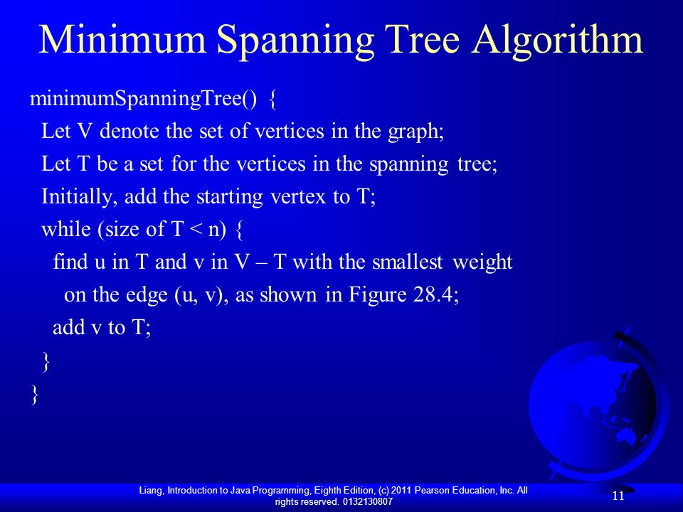 Minimum Spanning Tree Algorithm