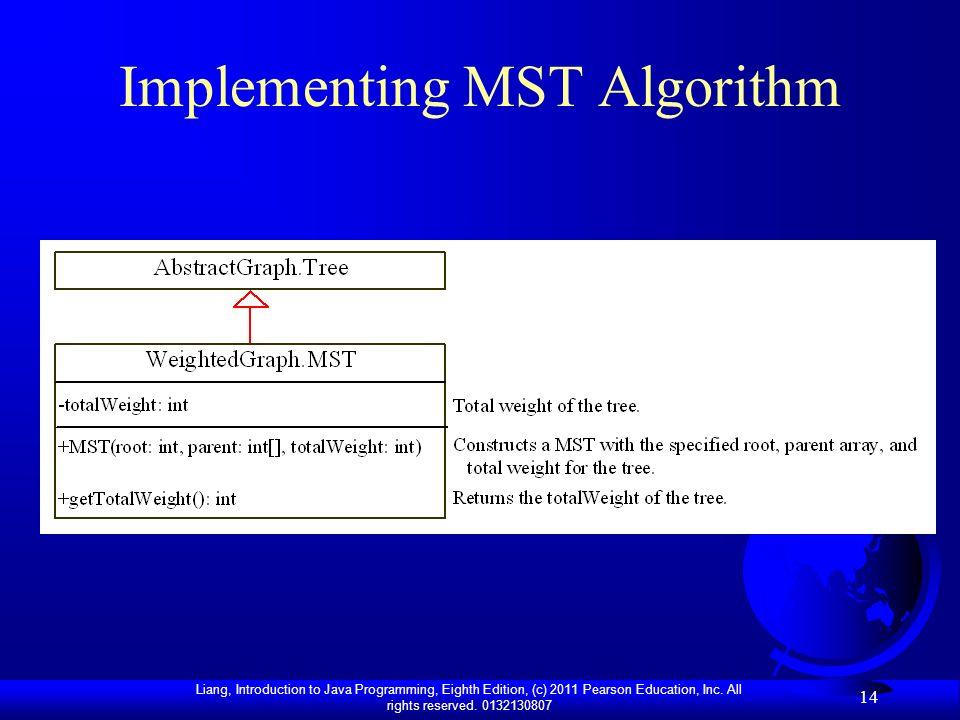 Implementing MST Algorithm
