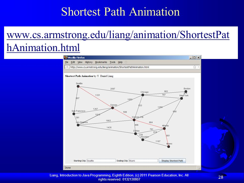 Shortest Path Animation