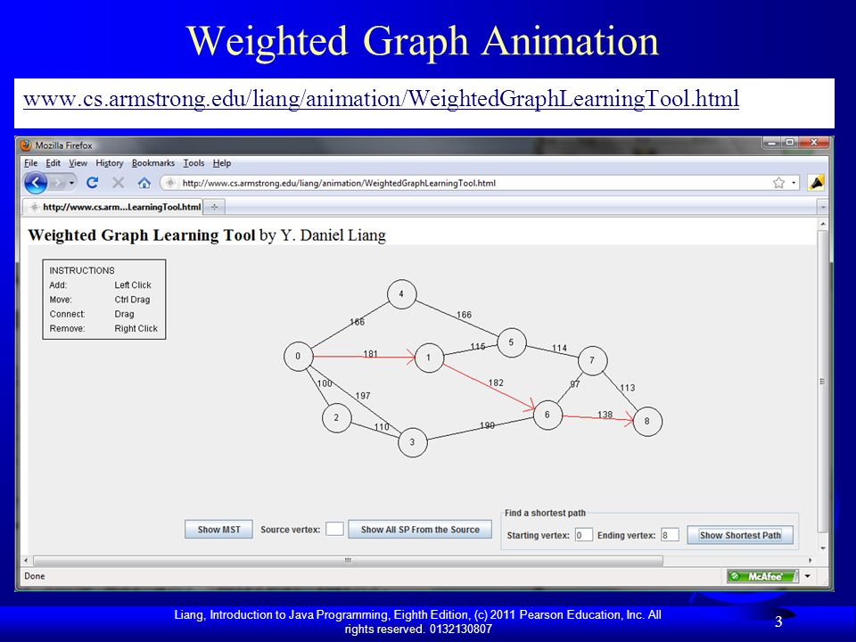 Weighted Graph Animation