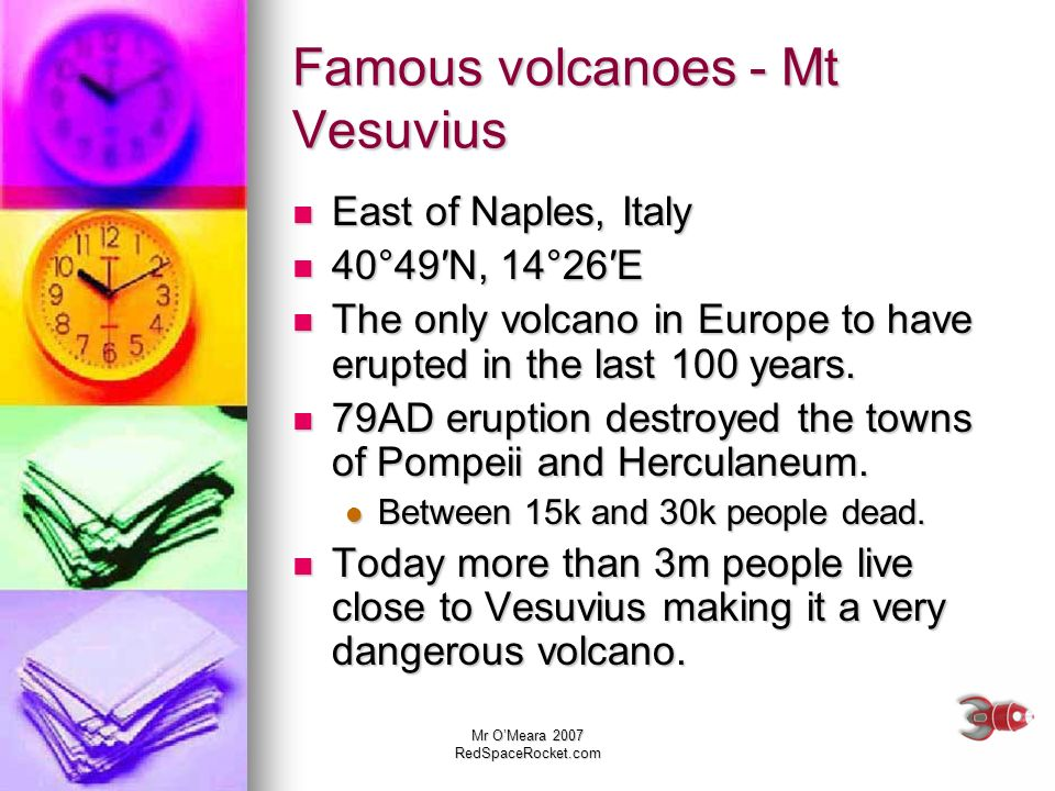 Famous volcanoes - Mt Vesuvius