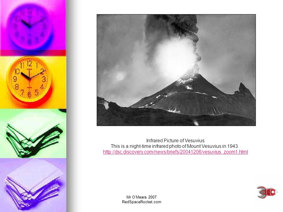 Infrared Picture of Vesuvius