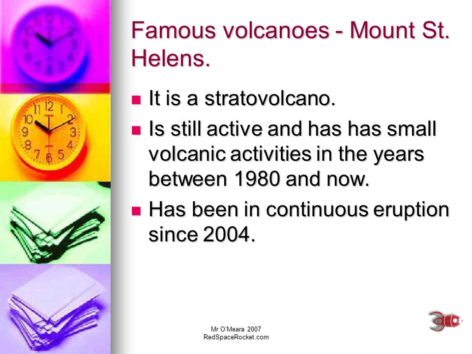 Famous volcanoes - Mount St. Helens.