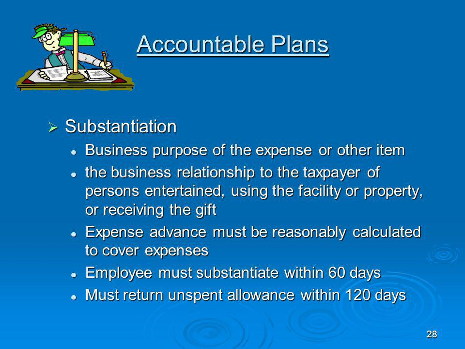 Accountable Plans Substantiation