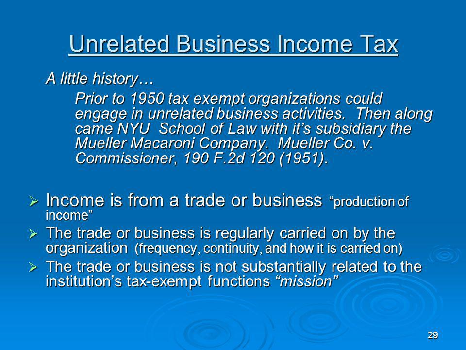 Unrelated Business Income Tax