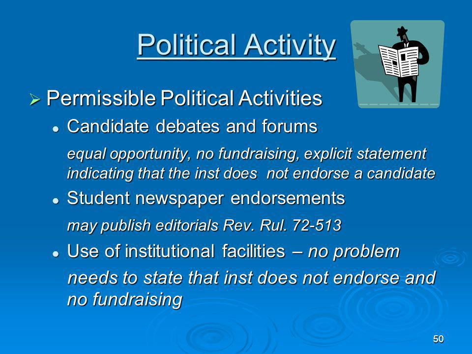 Political Activity Permissible Political Activities