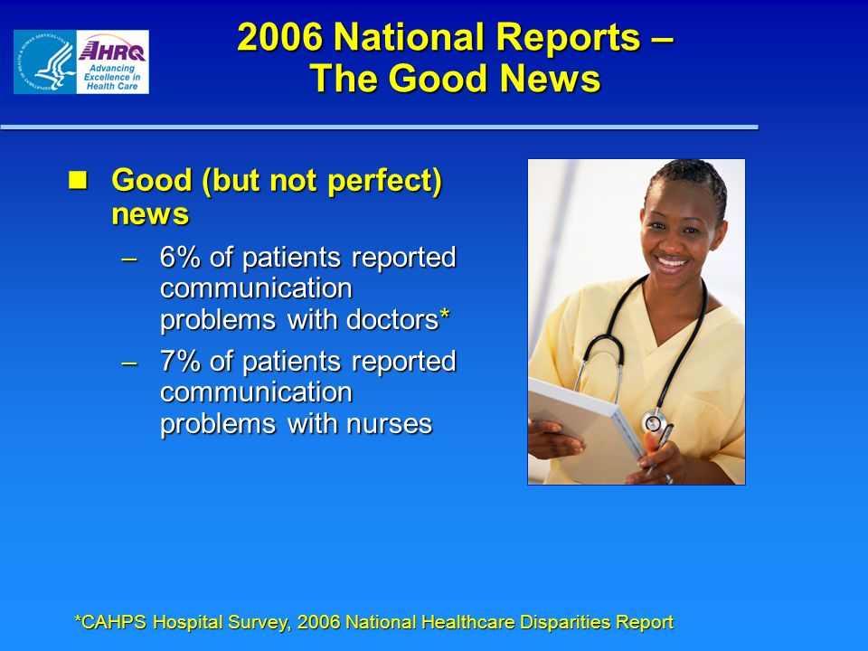 2006 National Reports – The Good News