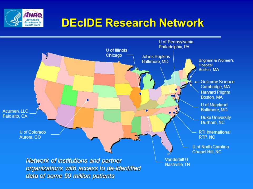 DEcIDE Research Network