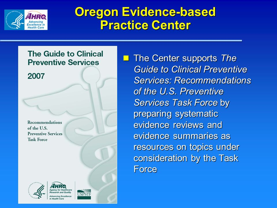 Oregon Evidence-based Practice Center