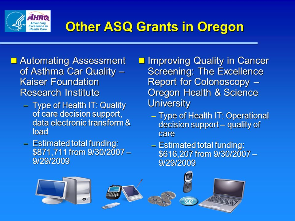 Other ASQ Grants in Oregon
