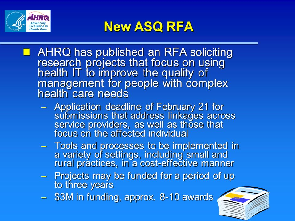 New ASQ RFA