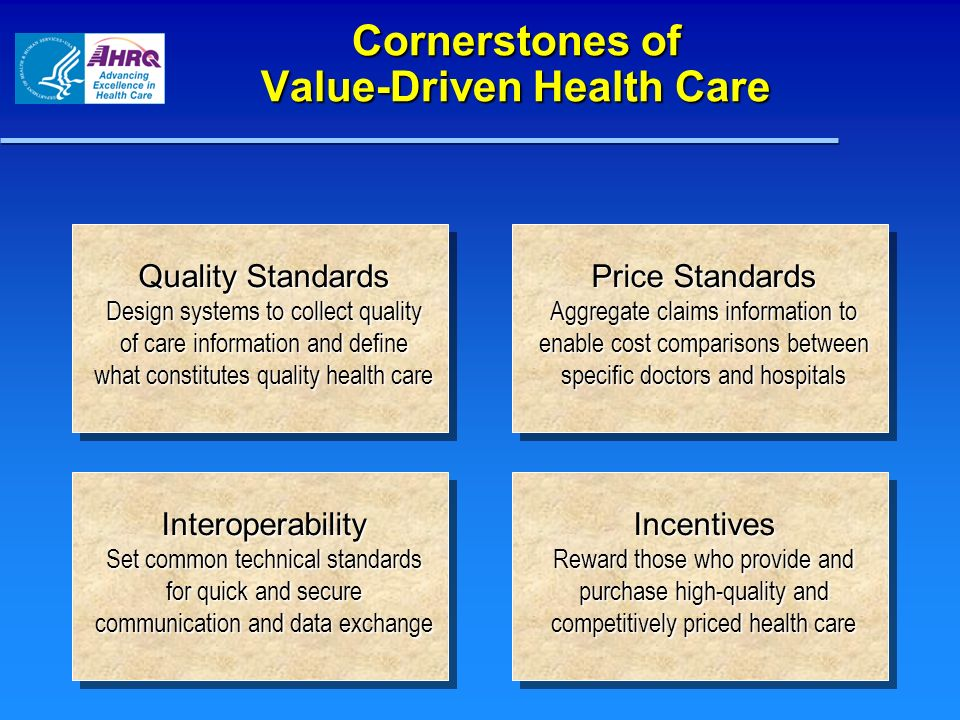 Cornerstones of Value-Driven Health Care