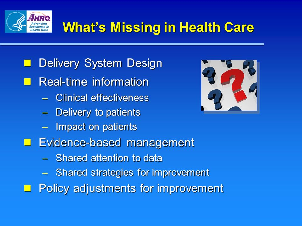 What's Missing in Health Care