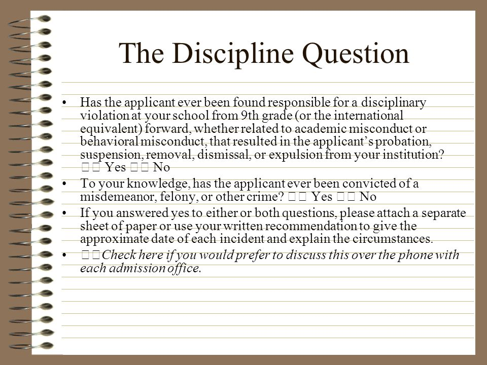 The Discipline Question