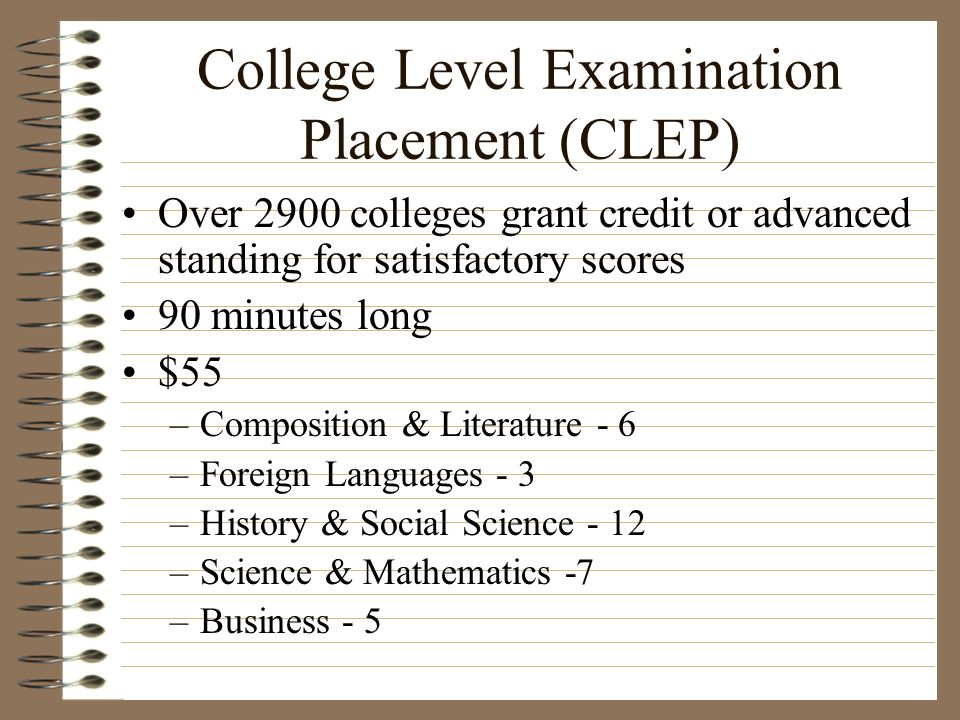 College Level Examination Placement (CLEP)