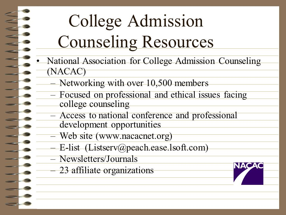 College Admission Counseling Resources