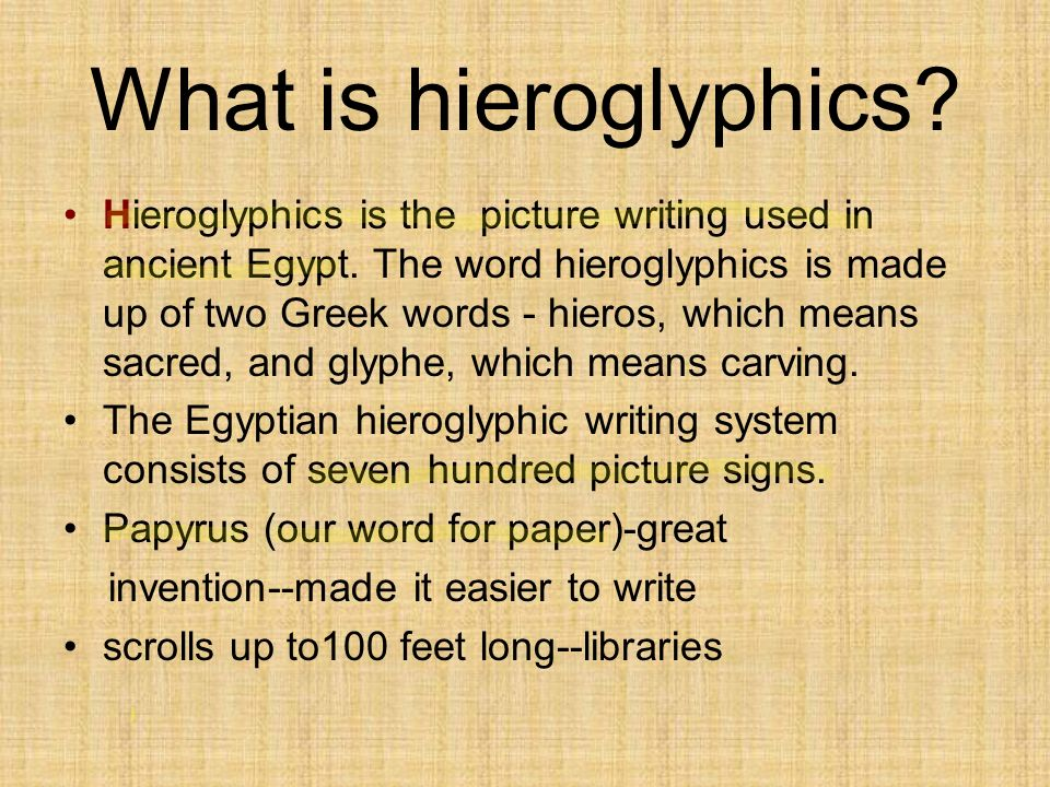 What is hieroglyphics