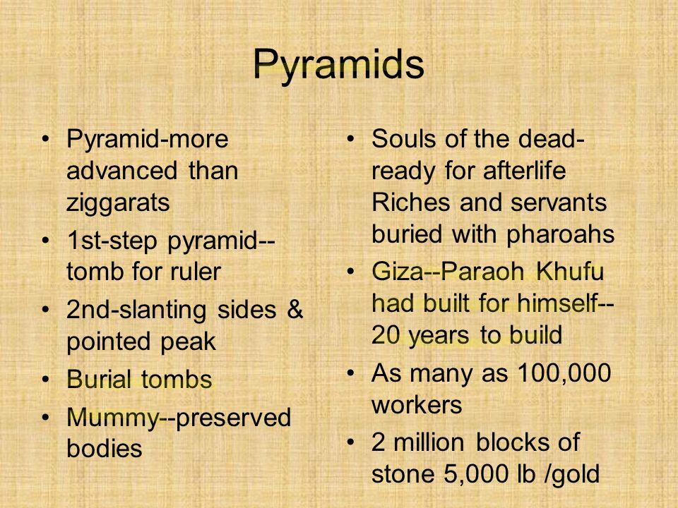 Pyramids Pyramid-more advanced than ziggarats