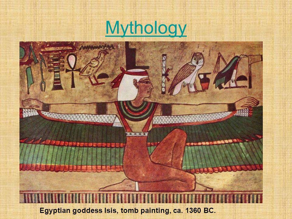 Mythology Egyptian goddess Isis, tomb painting, ca. 1360 BC.