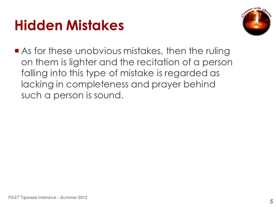 Hidden Mistakes