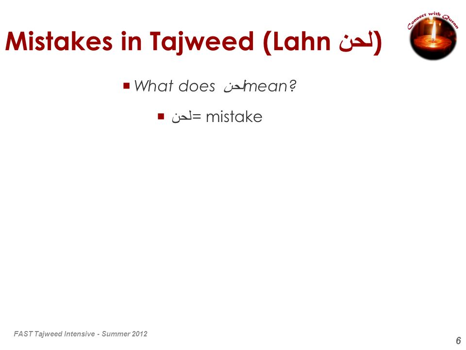 Mistakes in Tajweed (Lahn لحن)