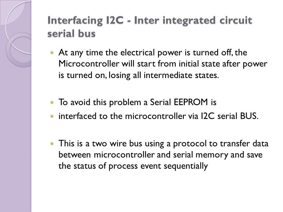 Interfacing I2C - Inter integrated circuit serial bus