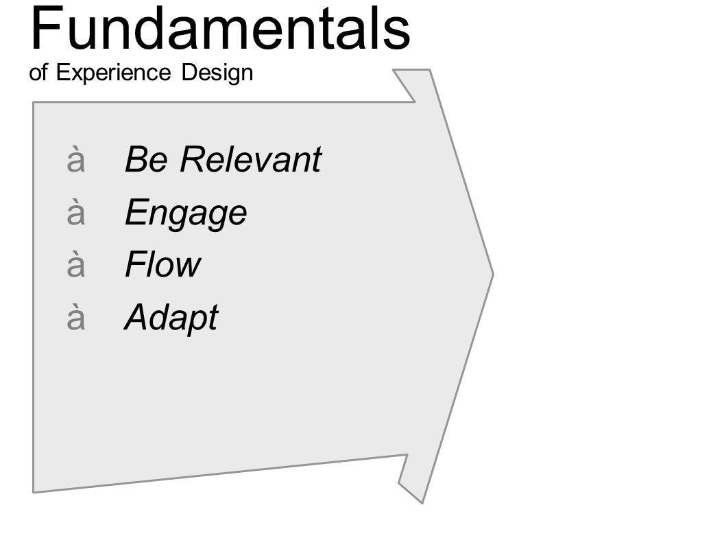 Fundamentals of Experience Design