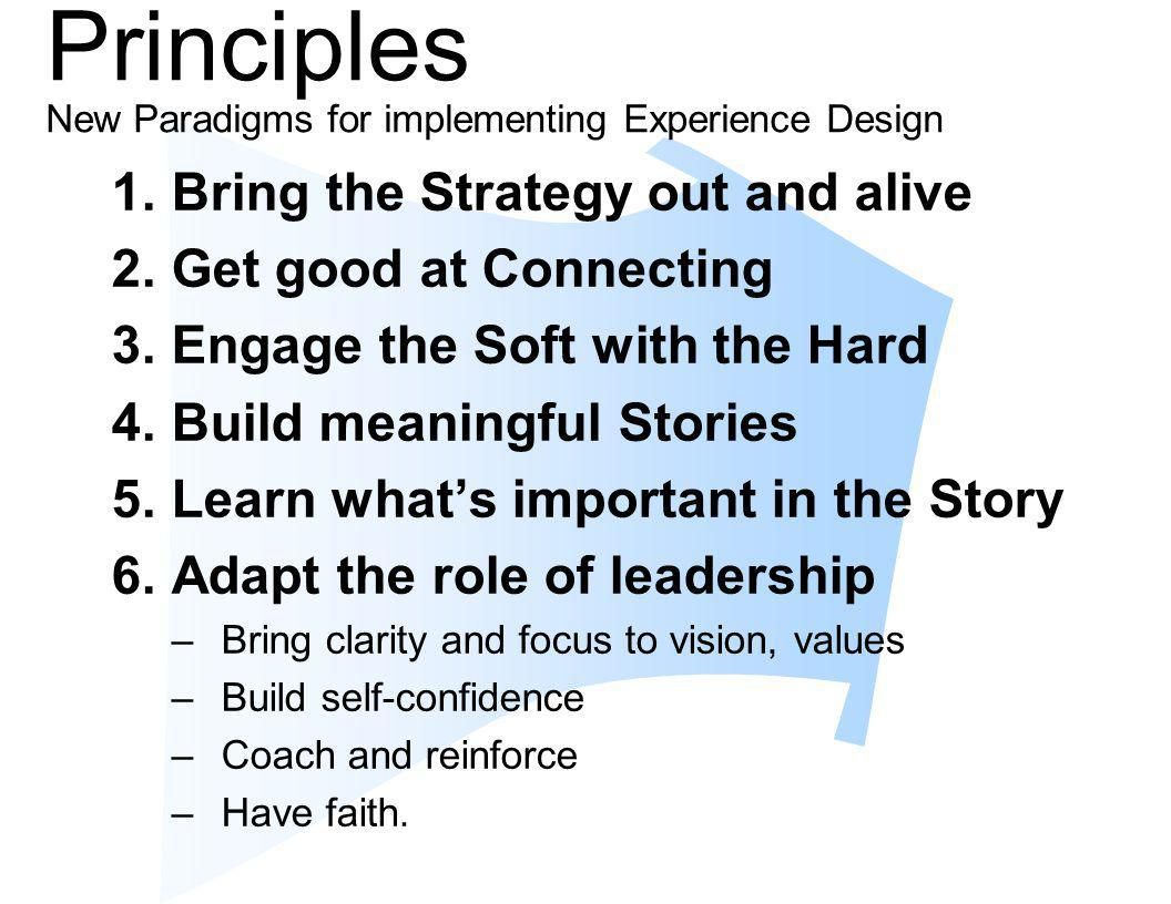 Principles New Paradigms for implementing Experience Design
