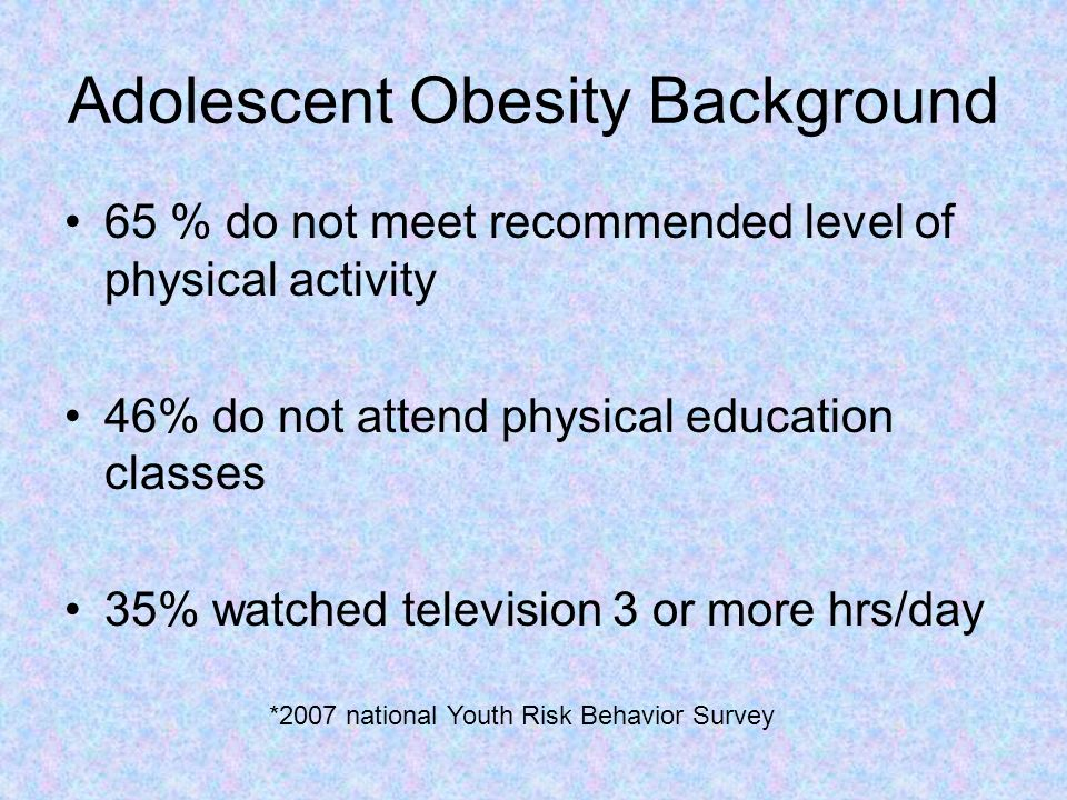 Adolescent Obesity Background