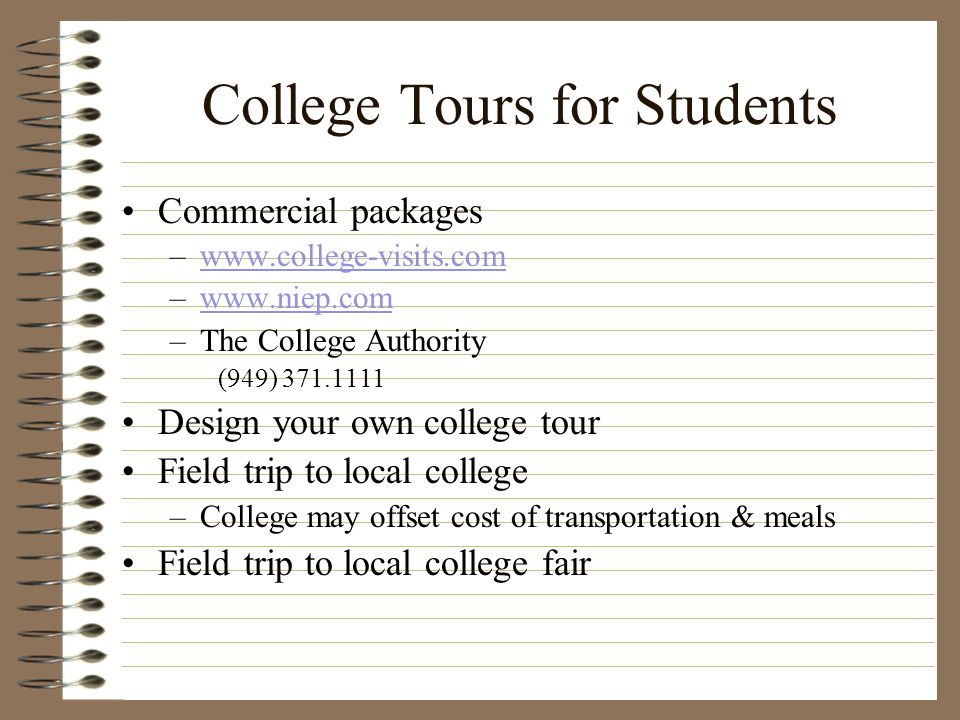 College Tours for Students