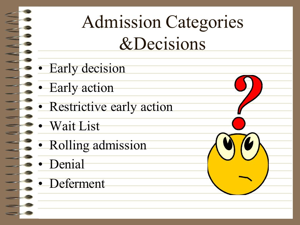 Admission Categories &Decisions