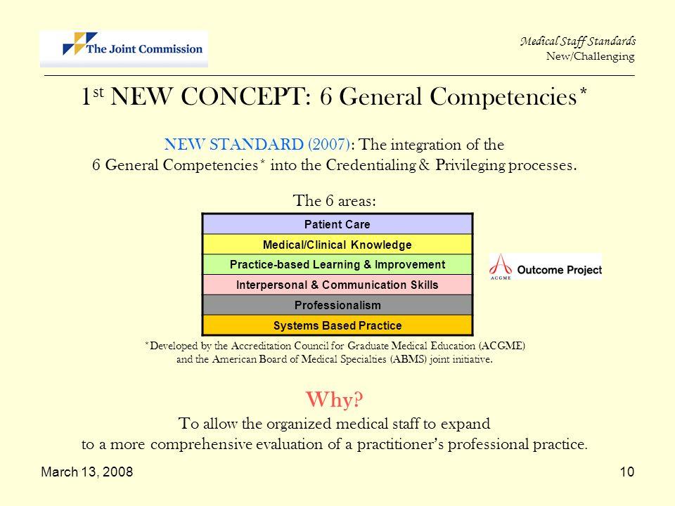 1st NEW CONCEPT: 6 General Competencies*