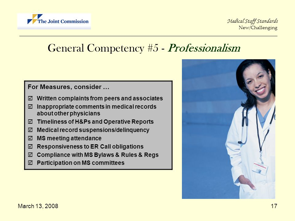 General Competency #5 - Professionalism
