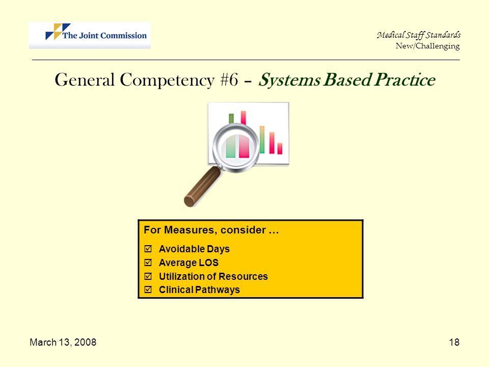 General Competency #6 – Systems Based Practice