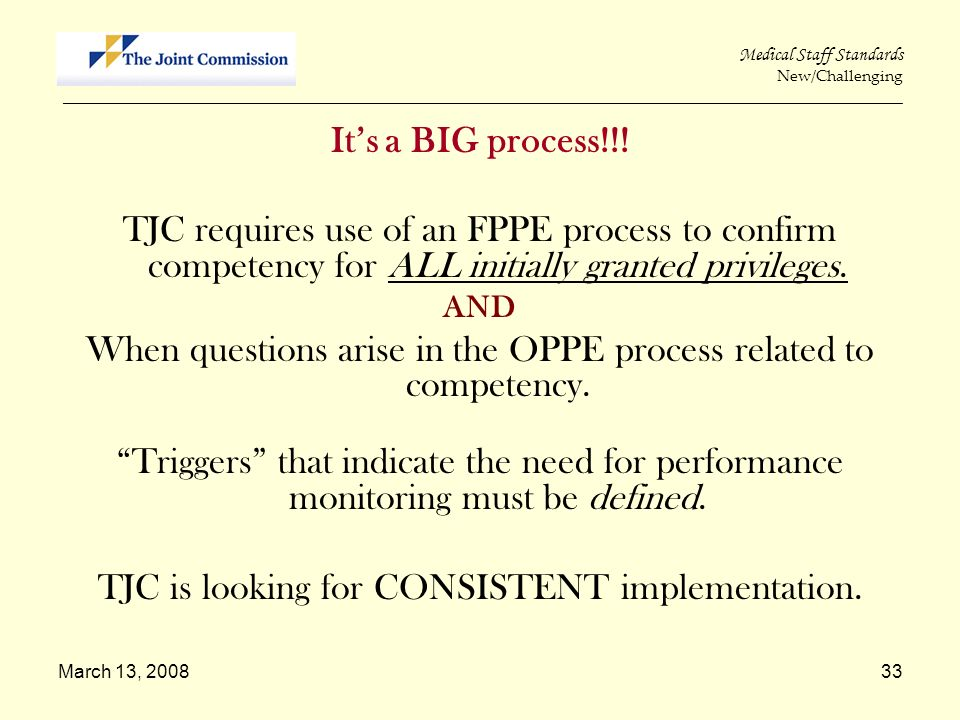 When questions arise in the OPPE process related to competency.