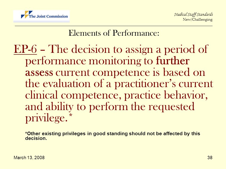 Elements of Performance:
