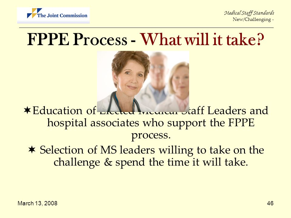 FPPE Process - What will it take