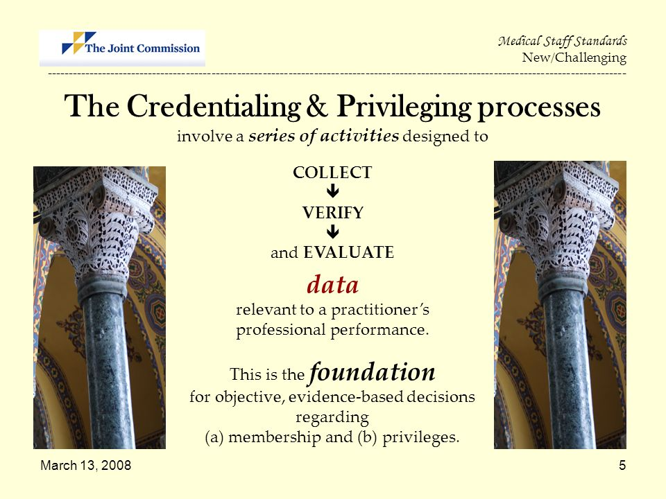 The Credentialing & Privileging processes