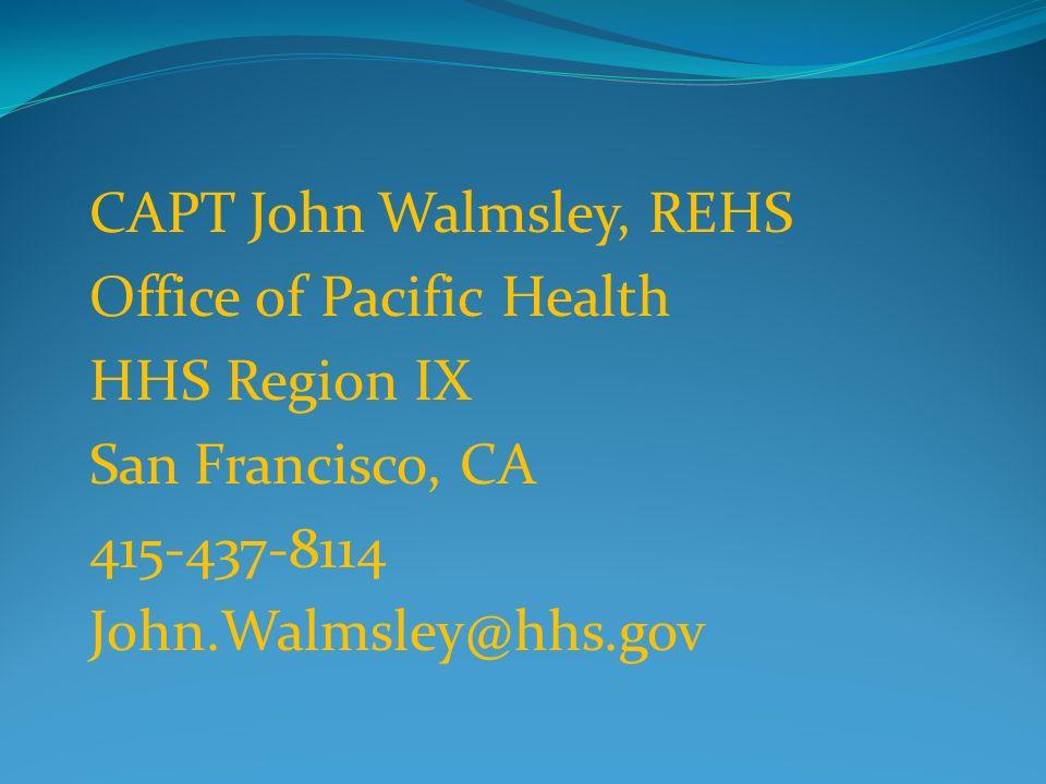 CAPT John Walmsley, REHS