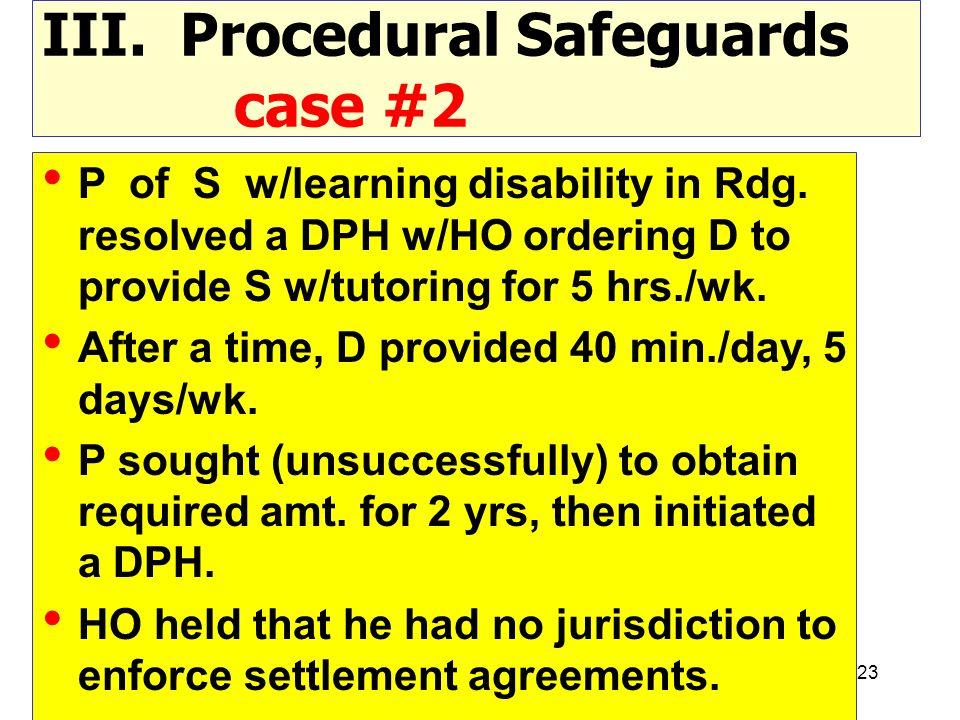 III. Procedural Safeguards case #2