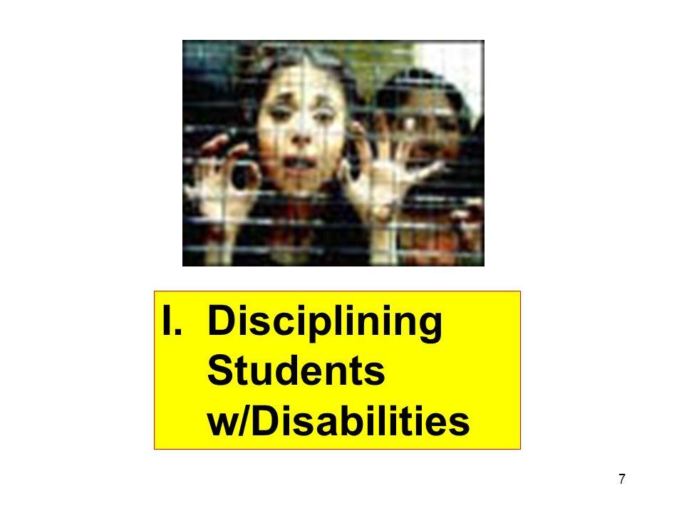 Disciplining Students w/Disabilities