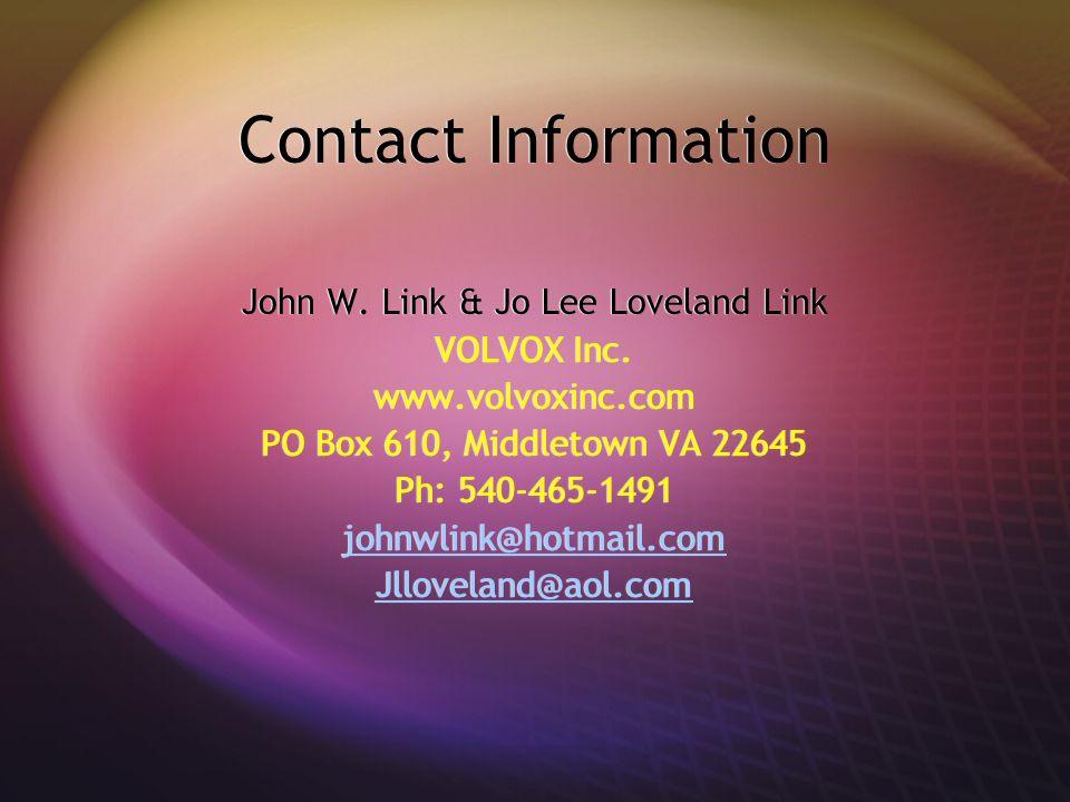 John W. Link & Jo Lee Loveland Link