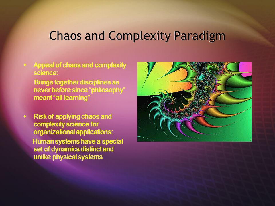 Chaos and Complexity Paradigm