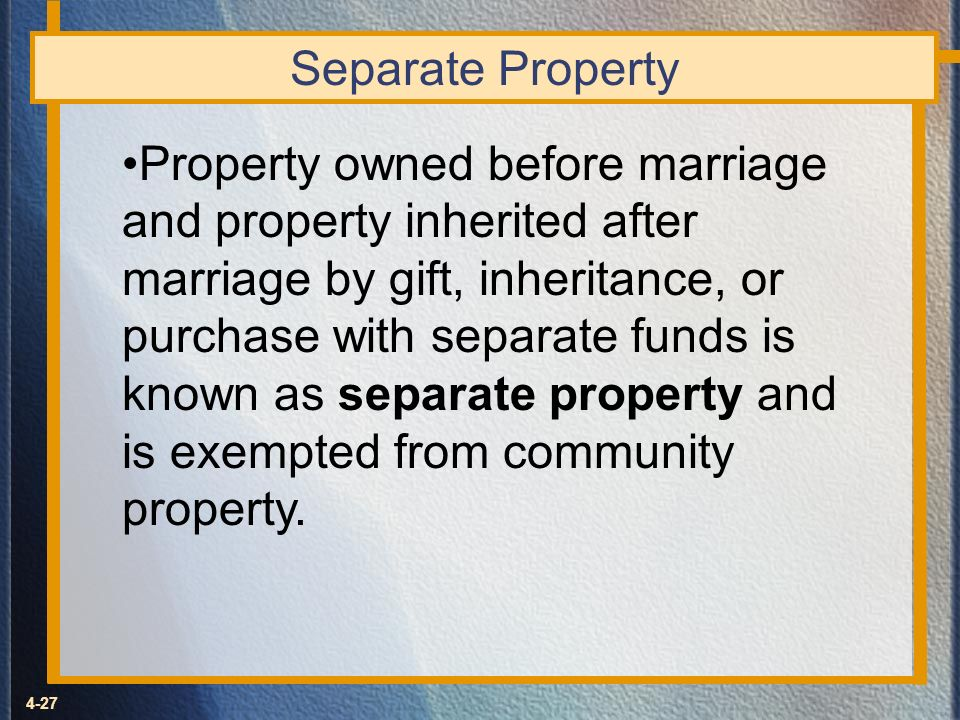 Separate Property