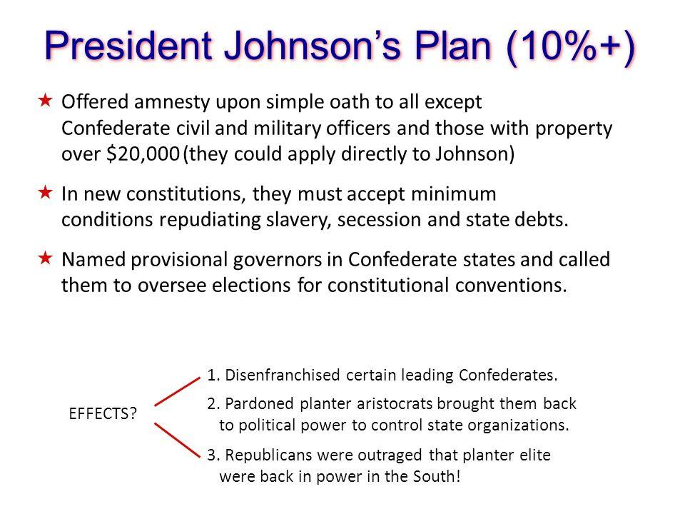 President Johnson's Plan (10%+)
