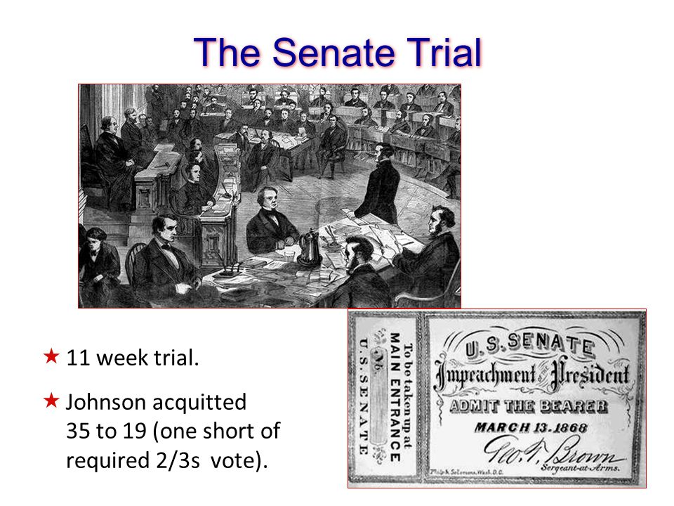 The Senate Trial 11 week trial.