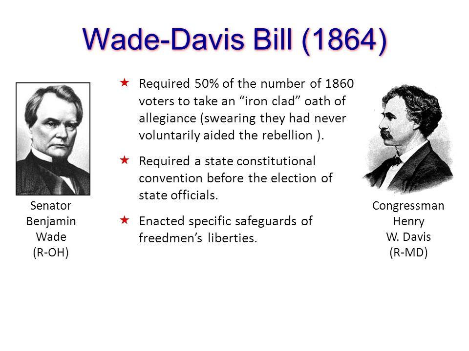 Wade-Davis Bill (1864)