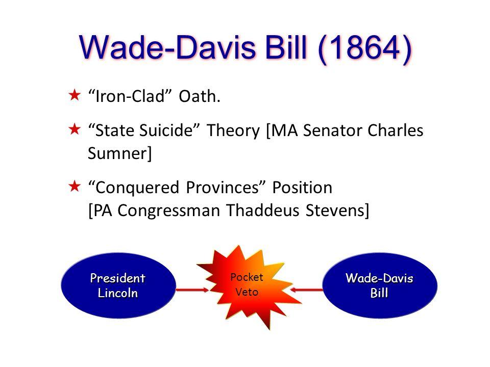 Wade-Davis Bill (1864) Iron-Clad Oath.