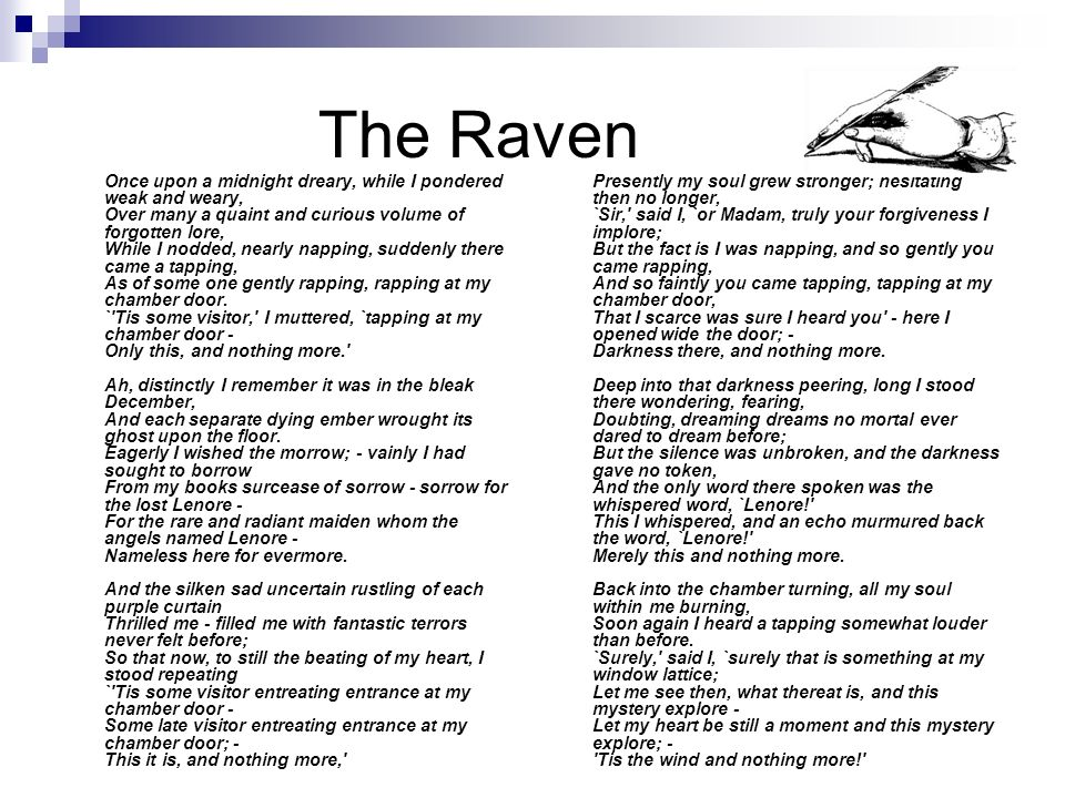 Essay over the raven