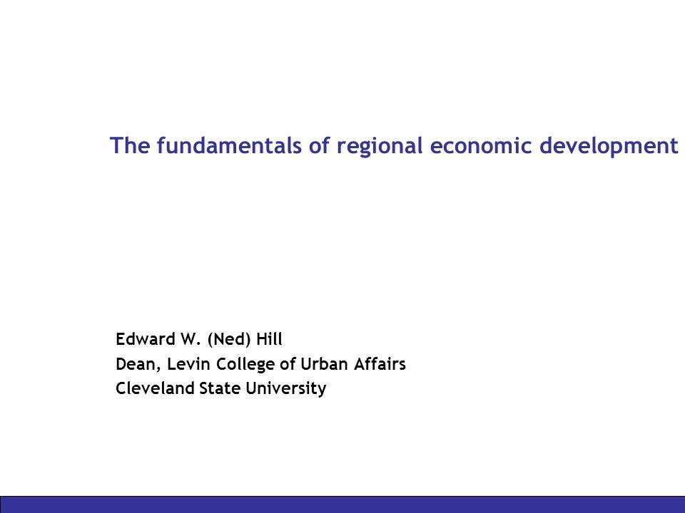 The fundamentals of regional economic development
